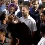 Rahul Gandhi stands in queue before ATM center in support of people